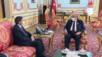 edebiyat -  TBMM Başkanı Mustafa Şentop, TÜRKSOY Genel Sekreteri Düsen Kaseinov'u kabul etti