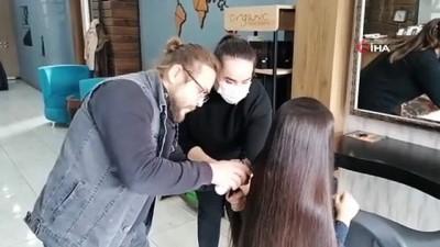 ilkokul ogrencisi -  Minik Zeynep hiç kesilmeyen saçlarını lösemili çocuklara bağışladı