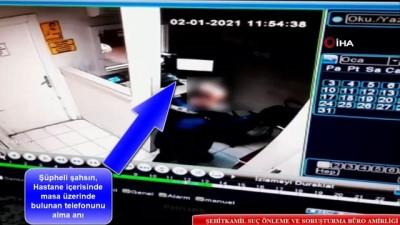 rontgen -  Sağlık çalışanının telefonunu çalan şüpheli yakalandı