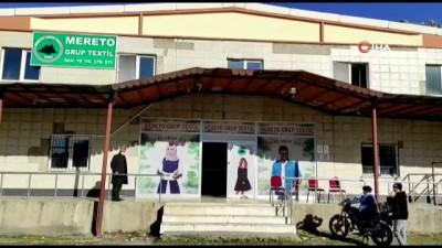 Faaliyeti durdurulan düğün salonu tekstil fabrikasına dönüştürüldü, 120 kişi iş sahibi oldu