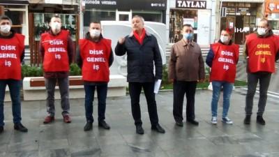 basin aciklamasi -  Lüleburgaz Belediye işçilerinin 92 günlük mücadele devam ediyor