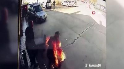 Alev topuna dönen pompacının yaşadığı dehşet anları kamerada
