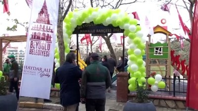 ilkokul ogrencisi -  Beyoğlu'nun 11'inci mahalle bahçesi törenle hizmete açıldı