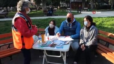 Deprem simülasyon tırında vatandaşlara eğitim verildi
