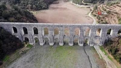 - İstanbul'da kuraklık nedeniyle balıkların yüzdüğü baraj, koyunlara kaldı
