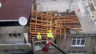 lodos -  İBB, AK Partili belediyelerin yönettiği ilçelerdeki çatı uçmalarına müdahale etmedi