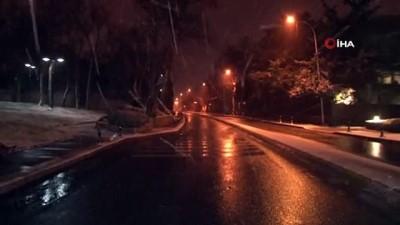 İstanbul'da kar yağışı gece boyunca devam etti