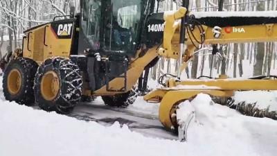 kar kureme araci -  Kapanan dağ mahallelerinin yolları açıldı