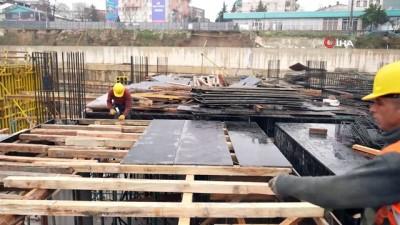 Bursa'da dev proje yağmur ve kara rağmen hız kesmiyor
