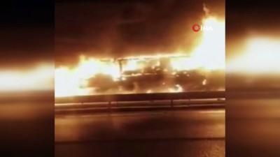 argo -  Kimyasal madde yüklü kamyon alev alev yandı
