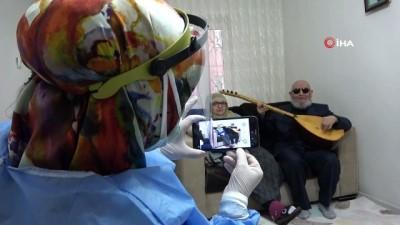 """sagligi merkezi -  Hanifi Dede'den aşı için gelen sağlıkçılara sazlı sözlü """"korona"""" bestesi"""