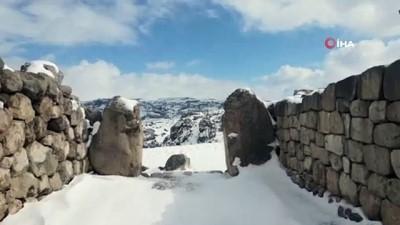 """Medeniyetler beşiği """"Hattuşa"""" kar altında"""