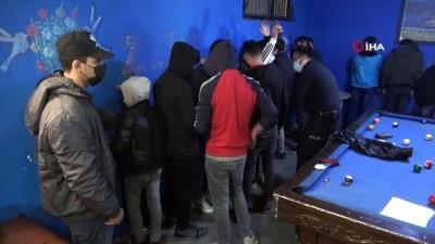 internet kafe -  Restoran görünümlü bilardo salonunda 20 kişi yakalandı
