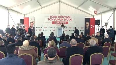 'Türk Dünyası Tonyukuk Parkı' ve Bilge Tonyukuk Yazıtı'nın açılışı TBMM Başkanı Şentop tarafından yapıldı