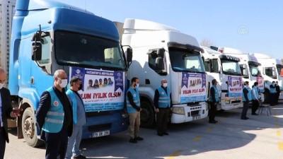 guvenli bolge - GAZİANTEP - Suriye'ye 5 tır insani yardım gönderildi