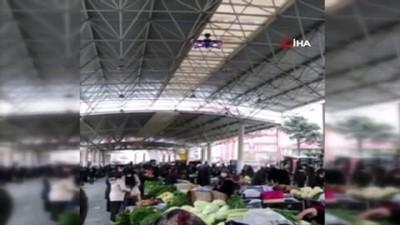 Çankırı'da vatandaşlar sesli drone ile uyarılıyor