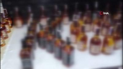 Kastamonu'da 133 şişe kaçak içki ele geçirildi