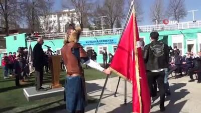 Kütahya Germiyan Ata Sporları Merkezi'nde 'Bayrak göndere çekme' töreni