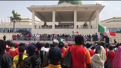 ABUJA - Nijerya'da işçi sendikaları yeni asgari ücret yasa tasarısını protesto etti