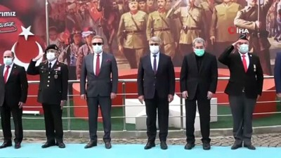 Çanakkale'ye ulaştırılacak Türk Bayrağı Karabük'te teslim alındı