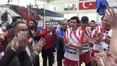 amator lig - HAKKARİ - Voleybolda 1. Lig için play-off biletini alan Hakkari Sportif Faaliyetler, kentte heyecan oluşturdu