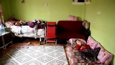 sagligi merkezi - KAHRAMANMARAŞ - Doğuştan engelli 3 çocuğuna fedakarca bakan Kahramanmaraşlı anneye Türk Kızılaydan ziyaret