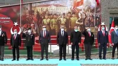 KARABÜK - Çanakkale'de 18 Mart'ta göndere çekilecek ay yıldızlı bayrak kente ulaştı