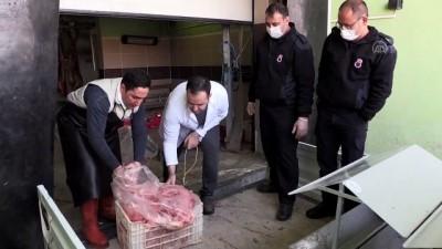 NİĞDE - Niğde Açık Ceza İnfaz Kurumu sıfır gıda atığı prensibiyle sokak hayvanlarını doyuruyor