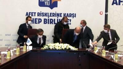 imza toreni -  Bakan Soylu, Memur–İşçi sendika ve Konfederasyonları ile Afad Eğitim İşbirliği protokol imza törenine katıldı