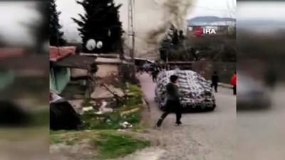 Suriyeli ailenin kaldığı gecekonduda tüp patladı, yangın çıktı