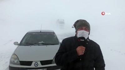 Kars'ta etkili olan tipi araçların geçişine izin vermiyor