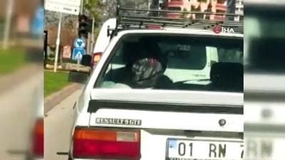 Arabadaki kadın şiddeti sürücüleri şaşkına çevirdi