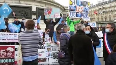 - Fransa'da Uygur Türklerine destek protestosu
