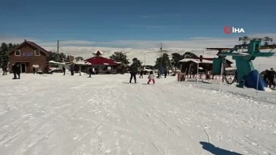 - Yalnızçam'da pistler kayakseverlerle doldu