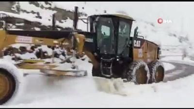 kar temizleme -  Erzurum'un kar çilesi bitmiyor