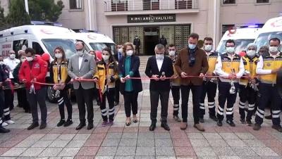 Kırklareli'ne gönderilen 4 ambulans için teslim töreni düzenlendi