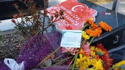 """Şehit mezarında duygulandıran doğum günü mesajı: """"Seni çok seviyorum koca çınarım"""""""
