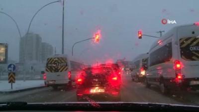 kar kureme araci -   Ankara'da kar yağışı etkisini arttırdı... Kar küreme aracı bozuldu