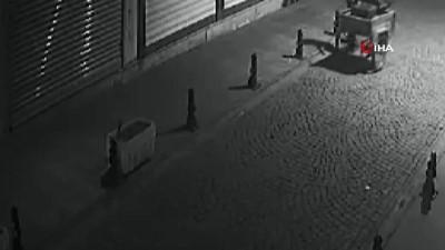 Batman'da demir dubaları çaldırlar... Hırsızlık anları güvenlik kamerasına böyle yansıdı
