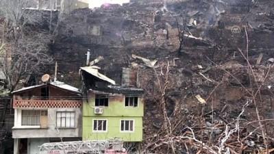 ARTVİN - Yusufeli'ndeki köyde çok sayıda binaya sıçrayan yangın tamamen söndürüldü