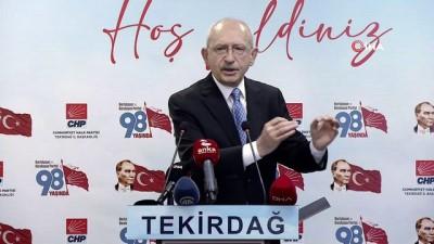 CHP lideri Kılıçdaroğlu: 'Biz siyasi partilerin kapatılması, siyasi partilerin sonlandırılması gibi bir süreci bırakmak zorundayız'