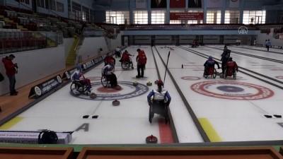 tekerlekli sandalye - ERZURUM - Rusya Tekerlekli Sandalye Curling Milli Takımı Antrenörü Batugin'den Erzurum'a övgü