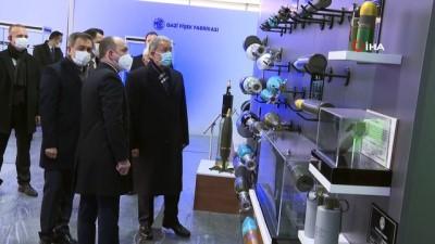 Milli Savunma Bakanı Akar'dan MKEK Barutsan Roket ve Patlayıcı fabrikasına ziyaret