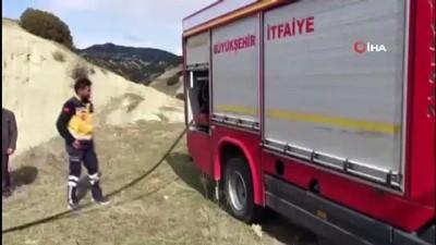 yangina mudahale -  112 Acil Sağlık ekipleri bu kez ormanı yanmaktan kurtardı