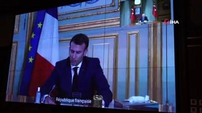 konferans -  Cumhurbaşkanı Erdoğan, Fransa Cumhurbaşkanı Macron ile görüştü