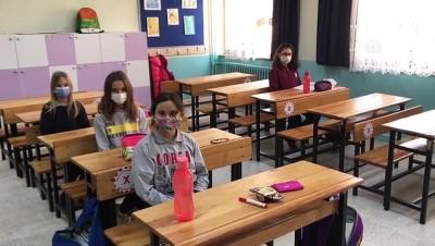 koronavirus - EDİRNE - Trakya'da yeni normalleşme süreciyle okullarda yüz yüze eğitime başlandı