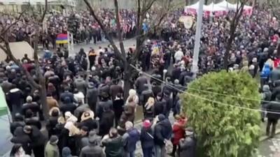 cumhurbaskanligi - ERİVAN - Ermenistan'da muhalefet yanlılarından gösteri