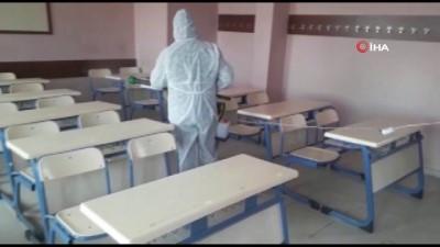 Iğdır'da okullar dezenfekte edildi
