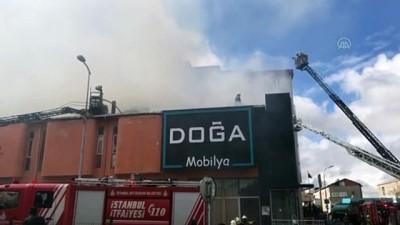 yangina mudahale - İSTANBUL - Ataşehir'de mobilya fabrikasında yangın