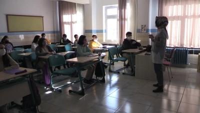 koronavirus - NEVŞEHİR - Yeni normalleşme süreciyle okullarda yüz yüze eğitime başlandı